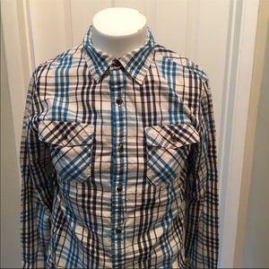 North Face plaid shirt S